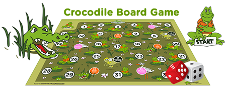 3rd grade Crocodile board game template