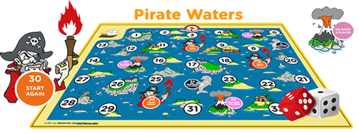 5th grade Pirate science board game