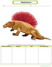 prehistoric beasts worksheet for kids, edaphosaurus