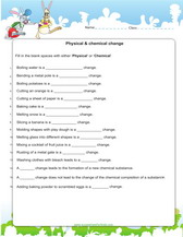 physical and chemical changes worksheets pdf
