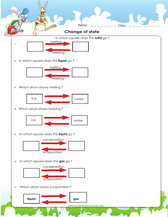 Change Of States Of Matter Worksheet