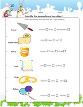 First grade science worksheets