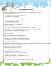 Worksheets Plant Adaptations Worksheets 5th Grade adaptations of plants and animals games worksheets adaptation worksheet for kids science 4th grade