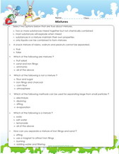 Mixtures science activities worksheets games learn about mixtures for 5th grade pdf ibookread Read Online