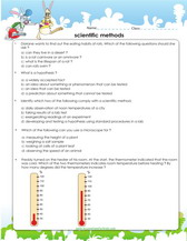3rd grade science worksheets scientific method